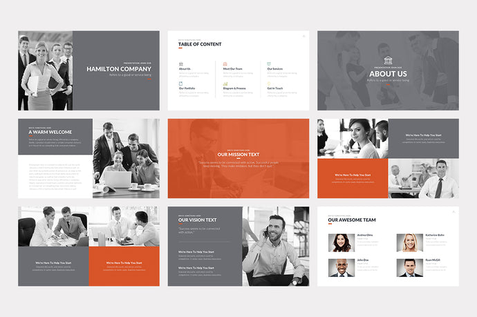 Hamilton PowerPoint Template - Presentation Templates on Slideforest