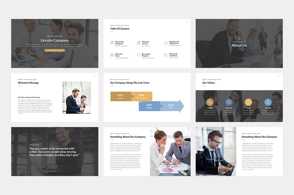 Lincoln Keynote Template - Presentation Templates on Slideforest