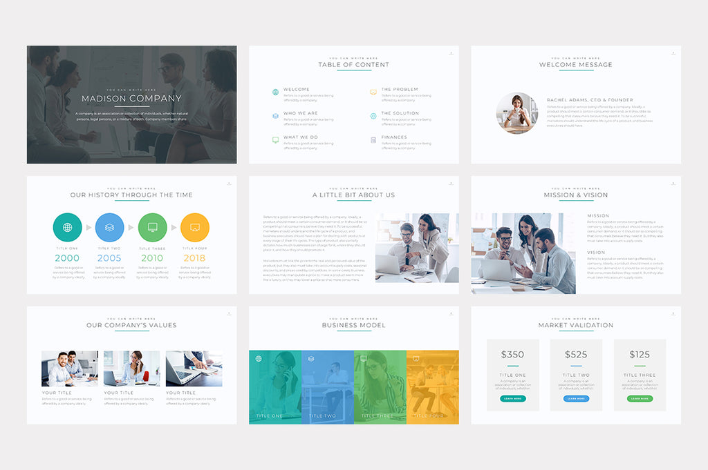 Madison Google Slides Template - Presentation Templates on Slideforest