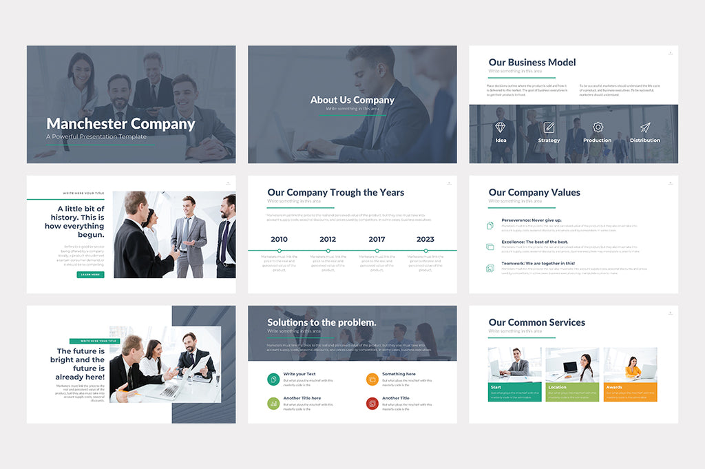 Manchester PowerPoint Template - Presentation Templates on Slideforest