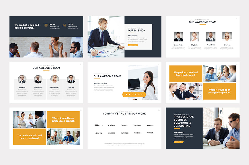 Marbella PowerPoint Template - Presentation Templates on Slideforest