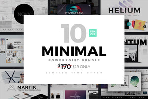 Minimal Powerpoint Templates Bundle