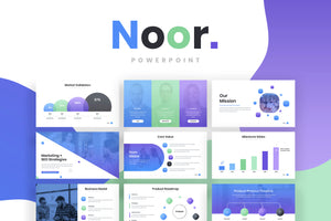 Noor Modern PowerPoint Template - Presentation Templates on Slideforest