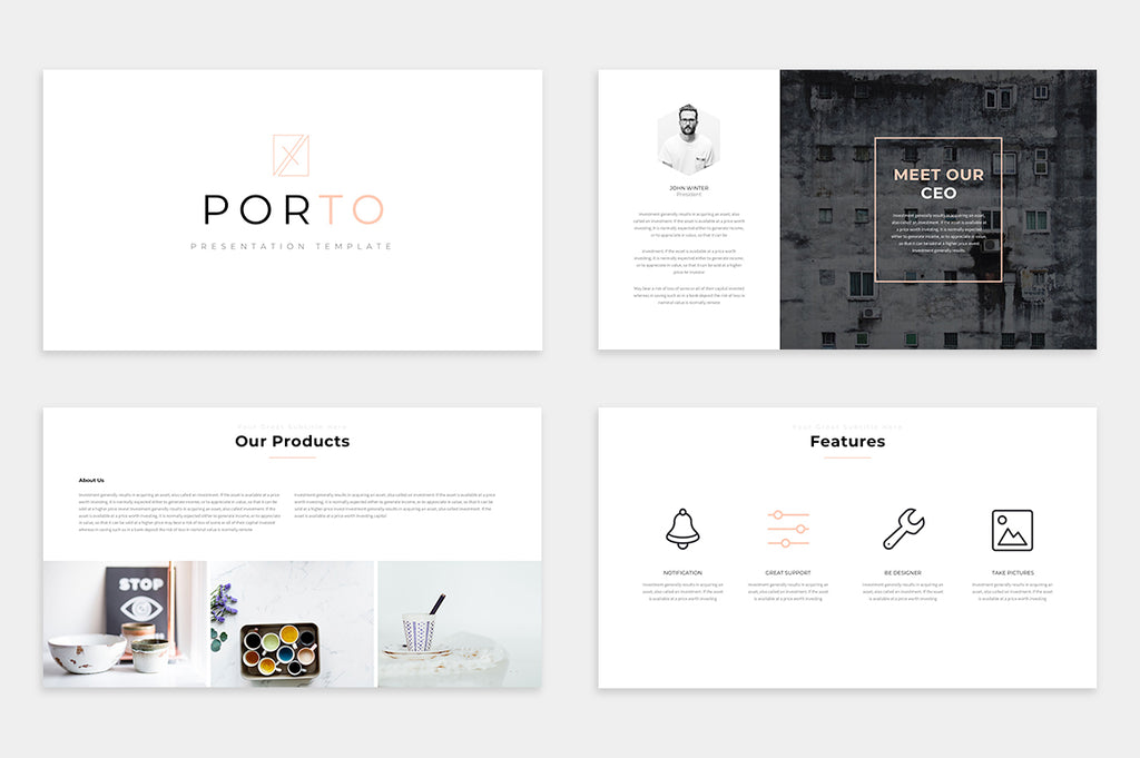 Porto Free Presentation Template - Presentation Templates on Slideforest