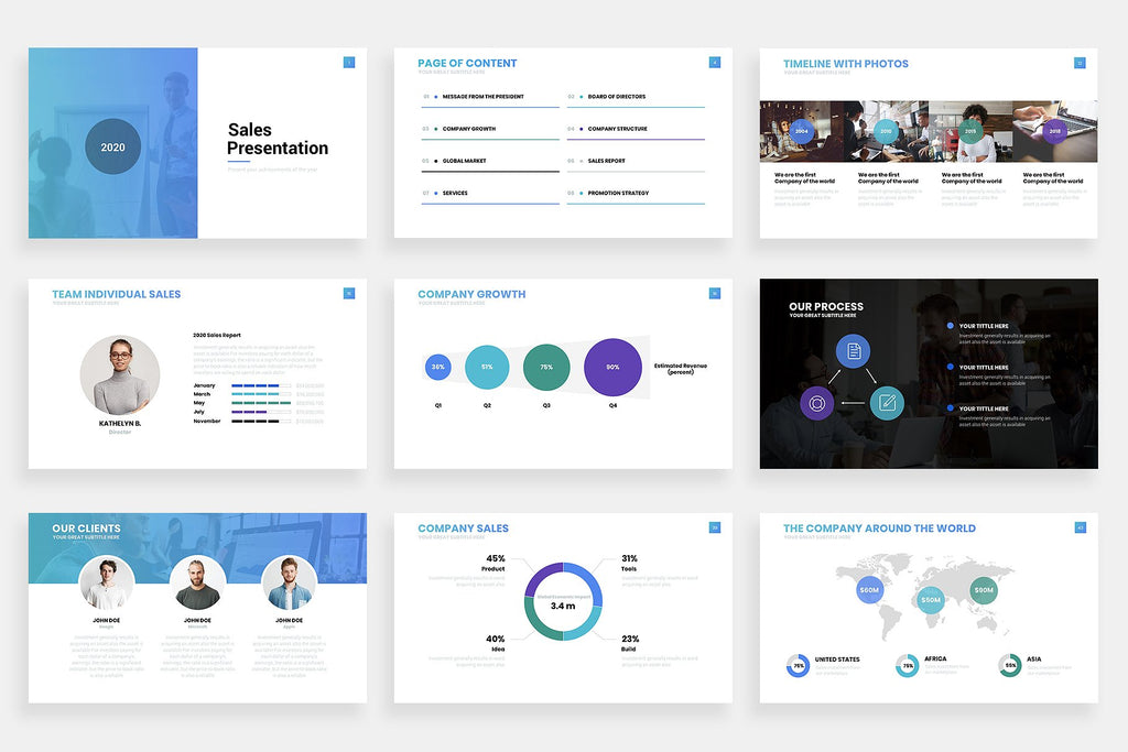 Sales Powerpoint Template