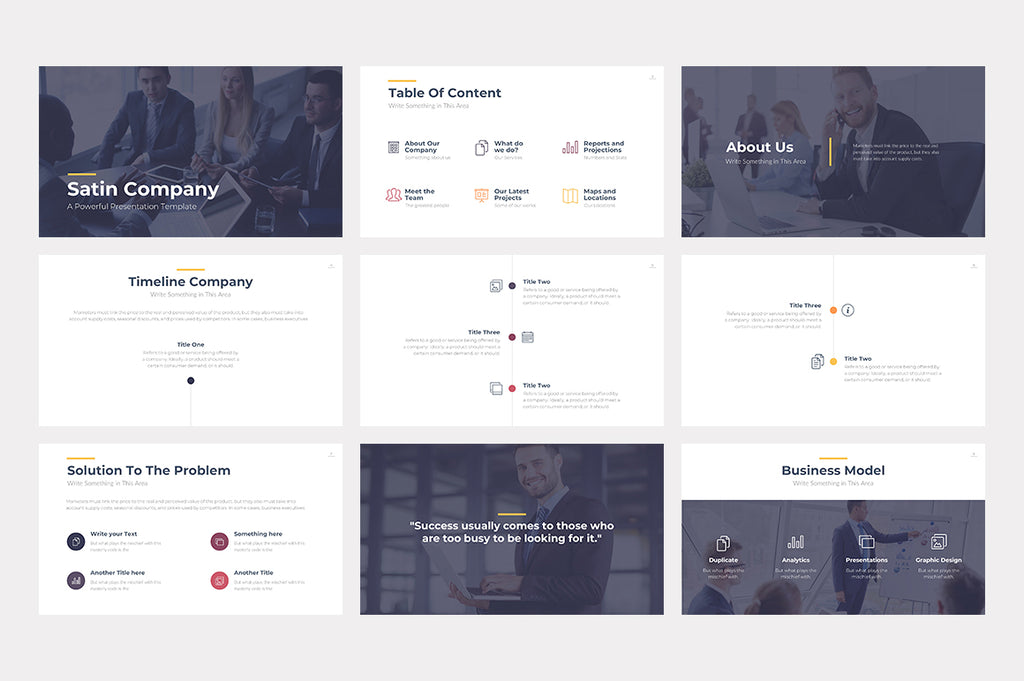 Satin Keynote Template - Presentation Templates on Slideforest