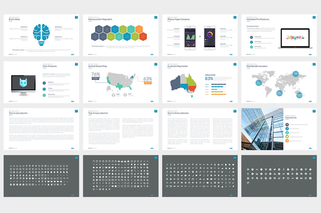 Simple & Modern Powerpoint Template - Presentation Templates on Slideforest
