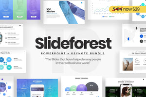 Slideforest Powerpoint + Keynote Templates Bundle