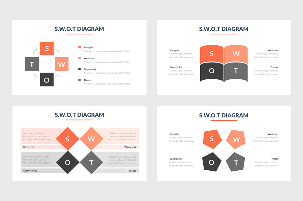 SWOT Chart PowerPoint Template 4 - Presentation Templates on Slideforest