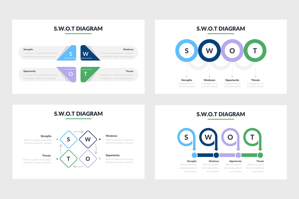 SWOT Diagram PowerPoint Template 2 - Presentation Templates on Slideforest