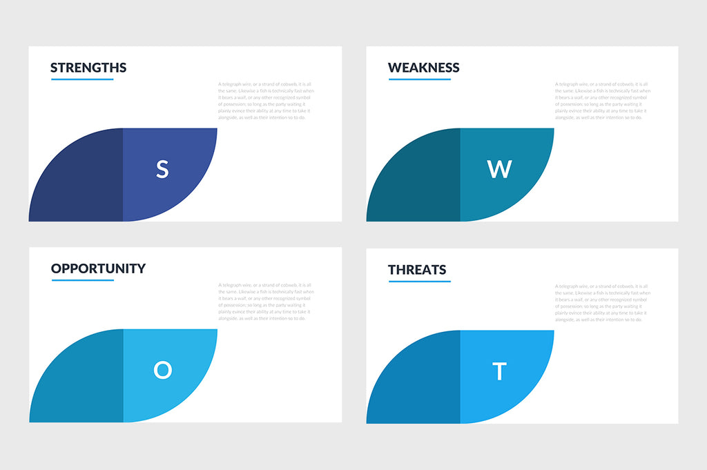 SWOT Slides PowerPoint Template 5 - Presentation Templates on Slideforest