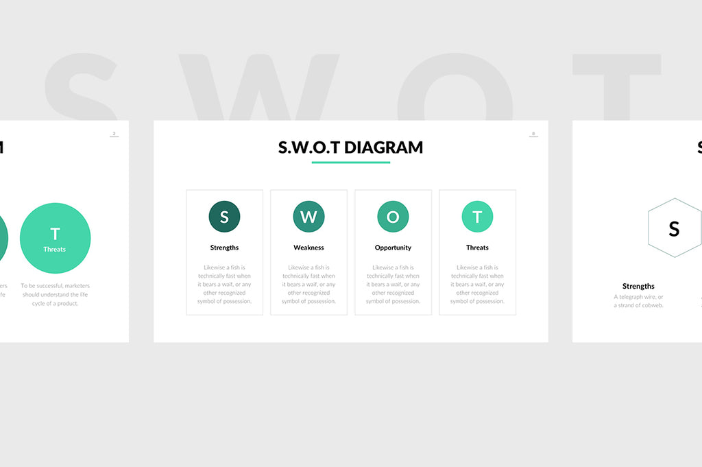 SWOT Chart PowerPoint Template 2 - Presentation Templates on Slideforest