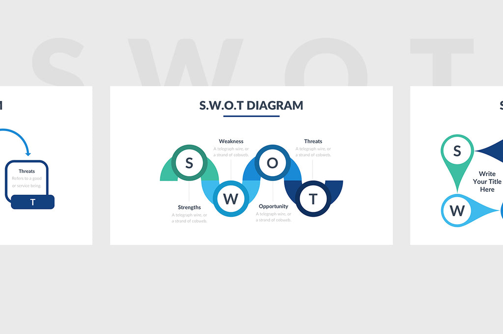 SWOT Diagram PowerPoint Template 4 - Presentation Templates on Slideforest