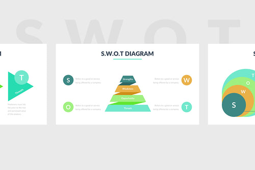 SWOT Diagram PowerPoint Template 5 - Presentation Templates on Slideforest