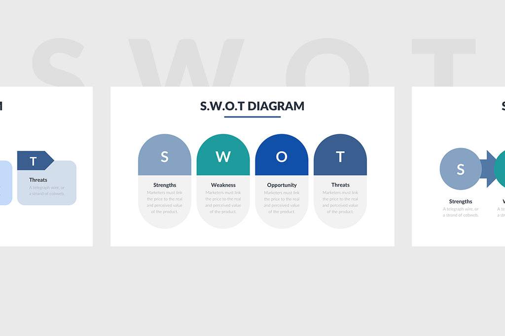 SWOT Slides PowerPoint Template 4 - Presentation Templates on Slideforest