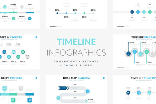 Timeline Slides for Powerpoint + Keynote + Google Slides - Presentation Templates on Slideforest