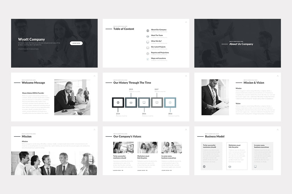Wyatt Google Slides Template