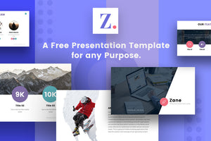 Zane Free Presentation Template - Presentation Templates on Slideforest