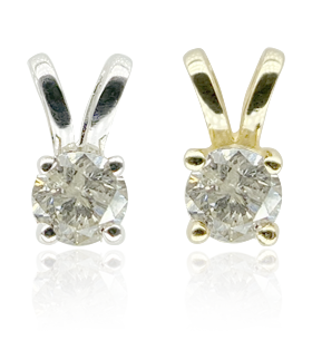 Diamond White Gold and Gold Earrings