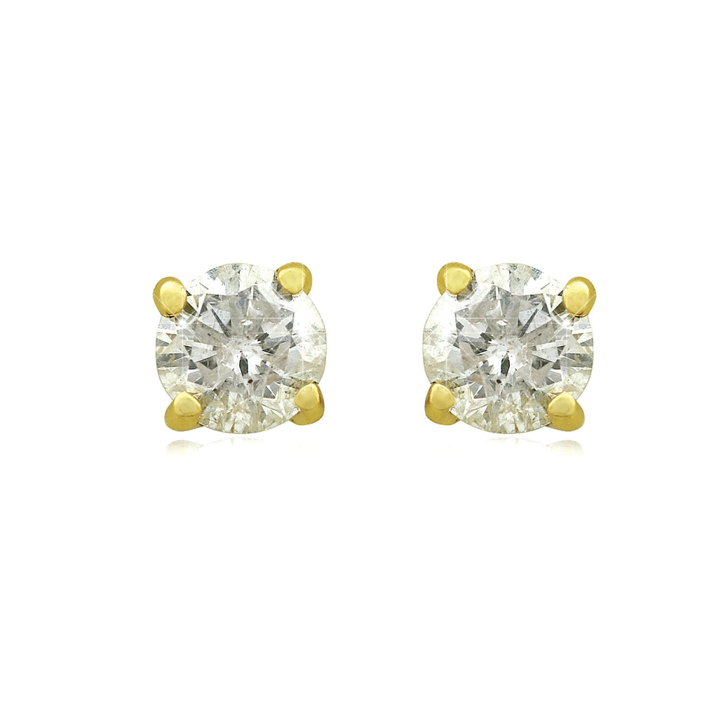 14k Gold Four-Claw Diamond Stud Earrings (1/3 ct. tw.) - Handling Fee