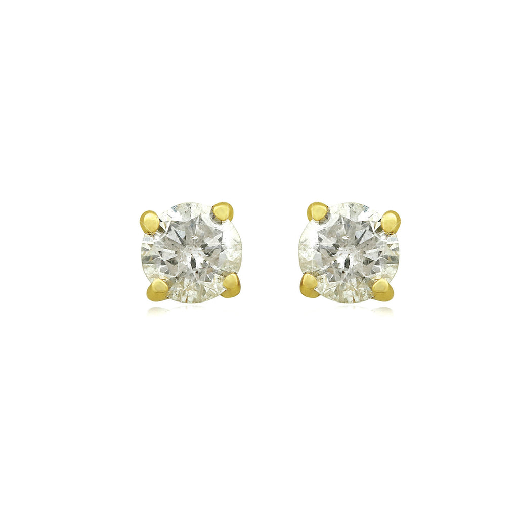 14k Gold Four-Claw Diamond Stud Earrings (1/5 ct. tw.) - Handling Fee