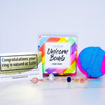 Unicorn Bomb | Luxury Bath Bomb + Ring Inside | Gift Package