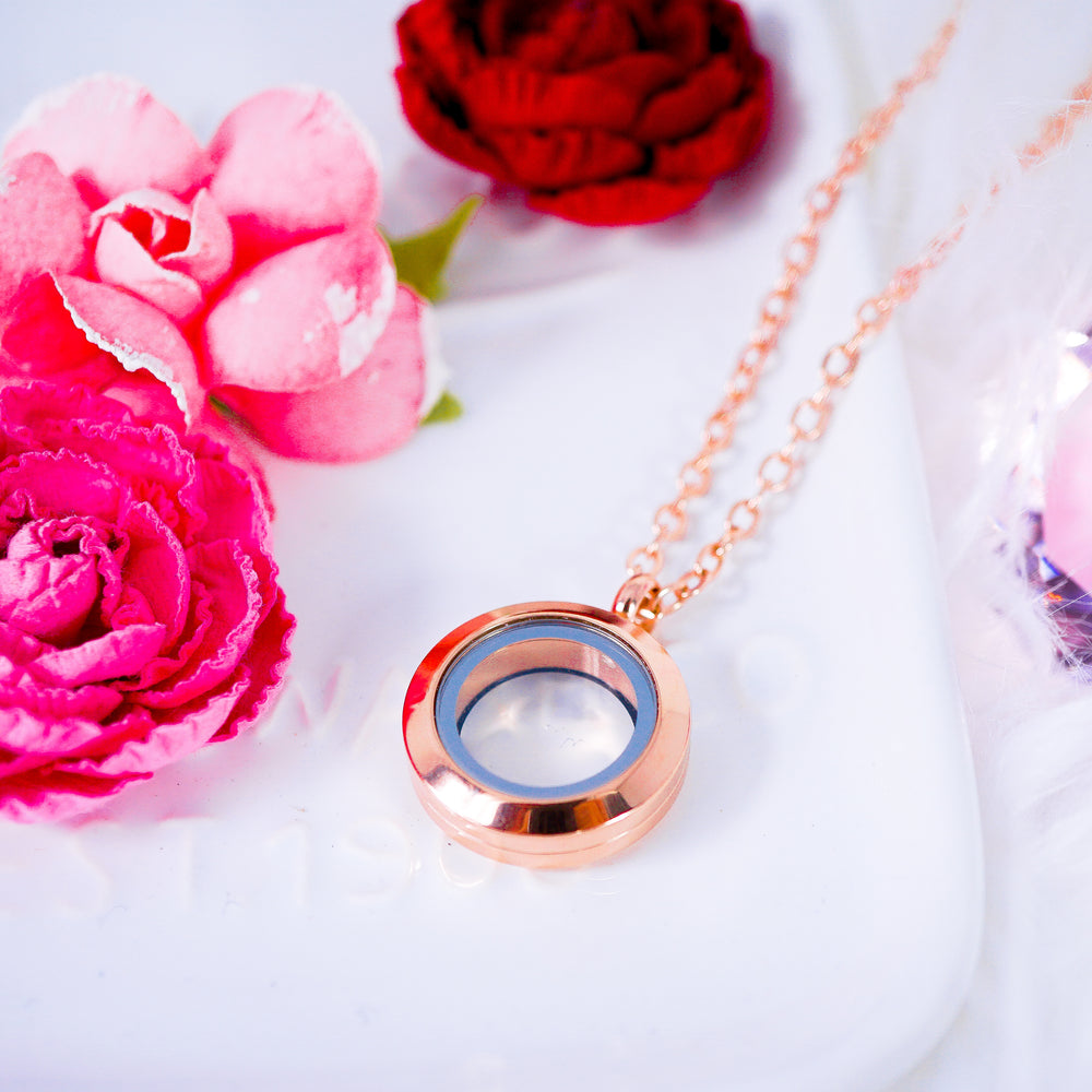 Luxury Locket Necklace | Rose Gold