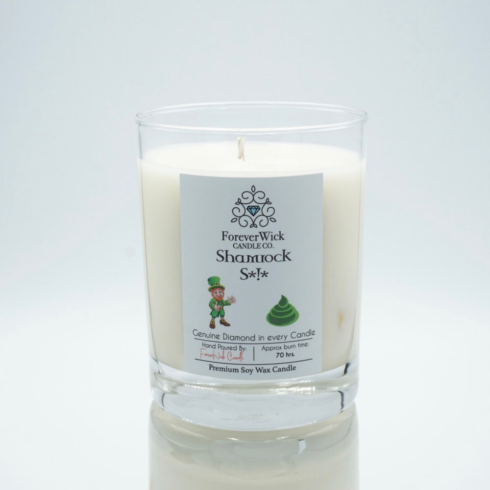 Shamrock S*!* • Limited Edition Soy Candle • Genuine Diamond Inside | 70 hr burn time