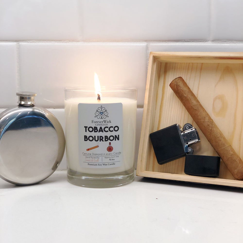 Tobacco Bourbon Diamond Candle