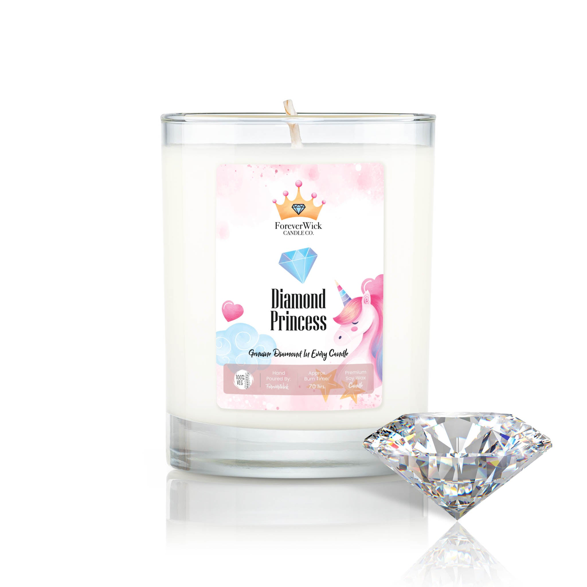 Diamond Princess Diamond Candle
