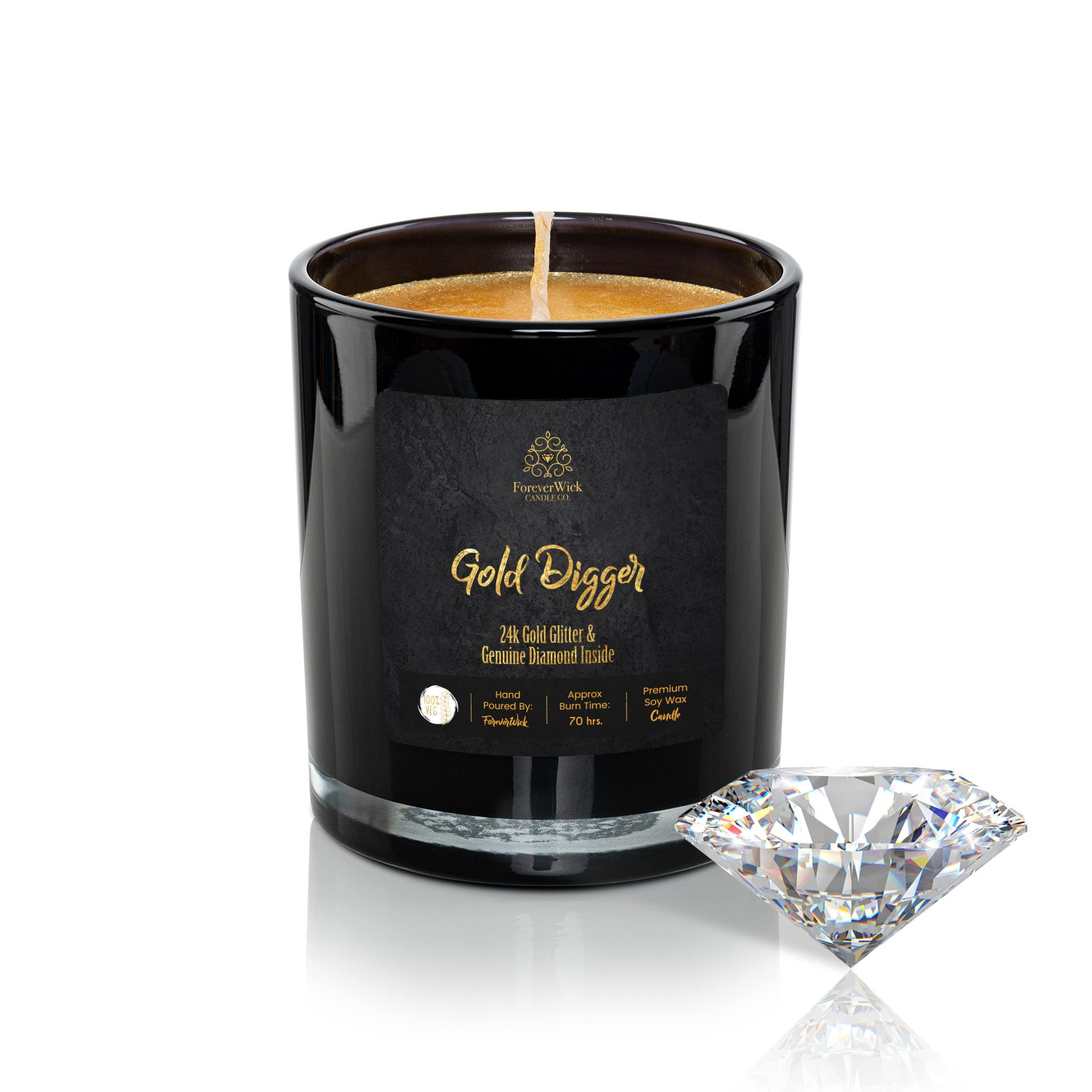 24K Gold Digger Diamond Candle
