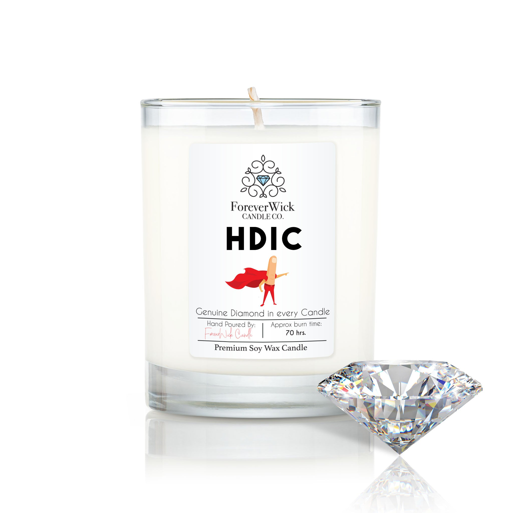 Head D* In Charge Diamond Candle