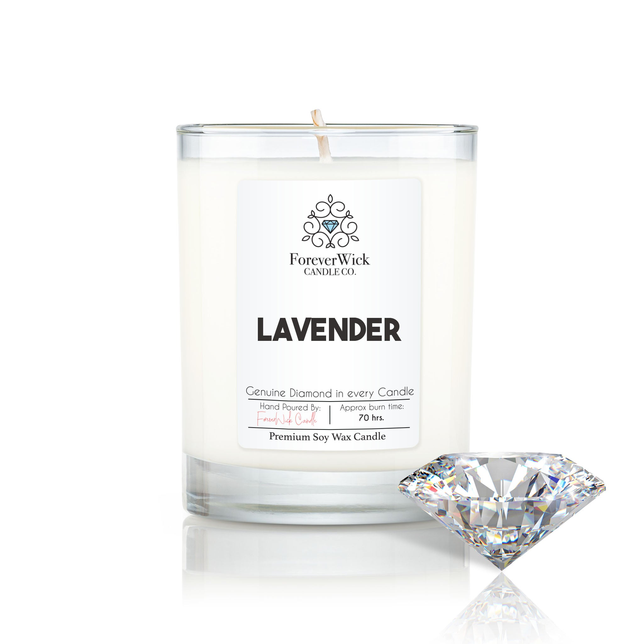 Lavender Diamond Candle