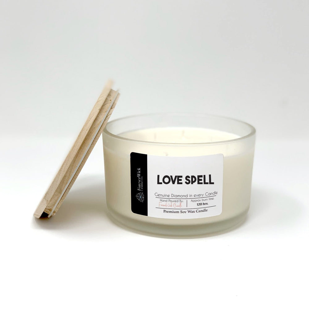 Love Spell 4 Wick Diamond Candle