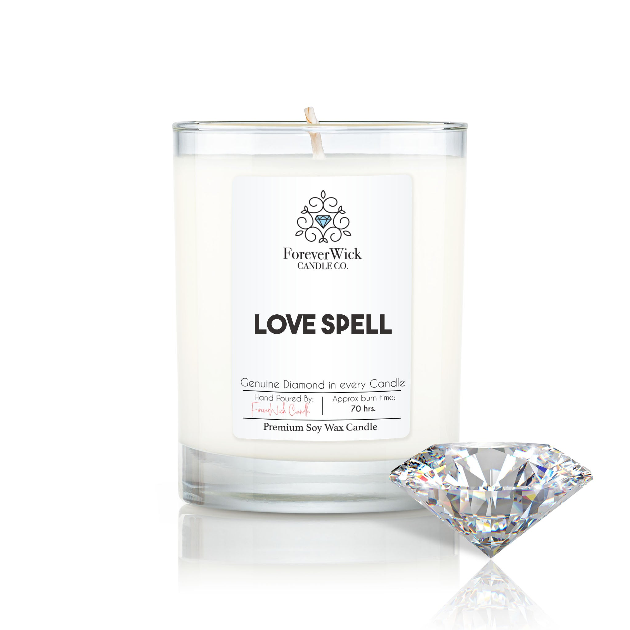 Love Spell Diamond Candle