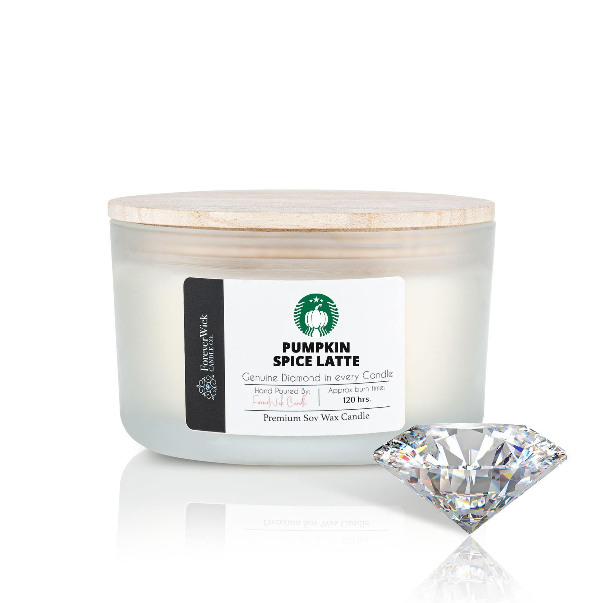 Pumpkin Spice Latte 4 Wick Diamond Candle