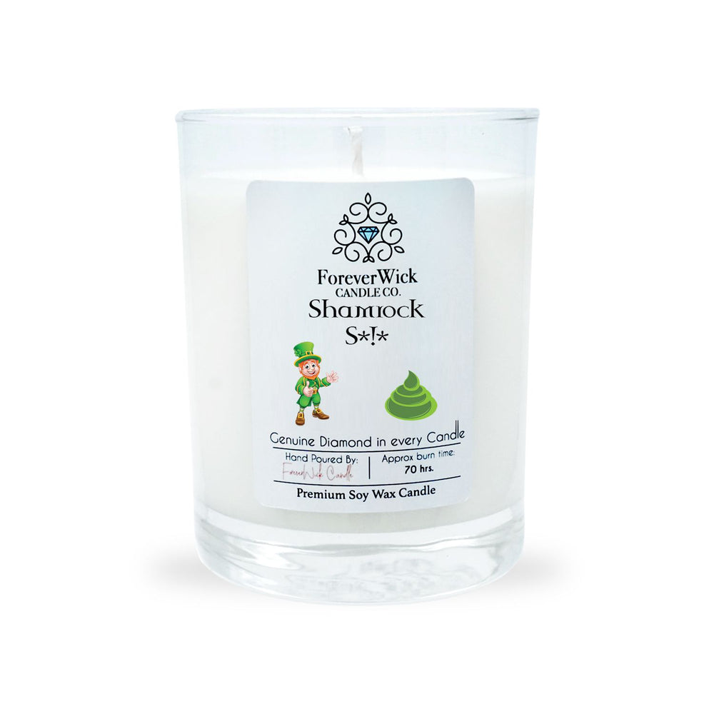 Shamrock S*!* Diamond Candle