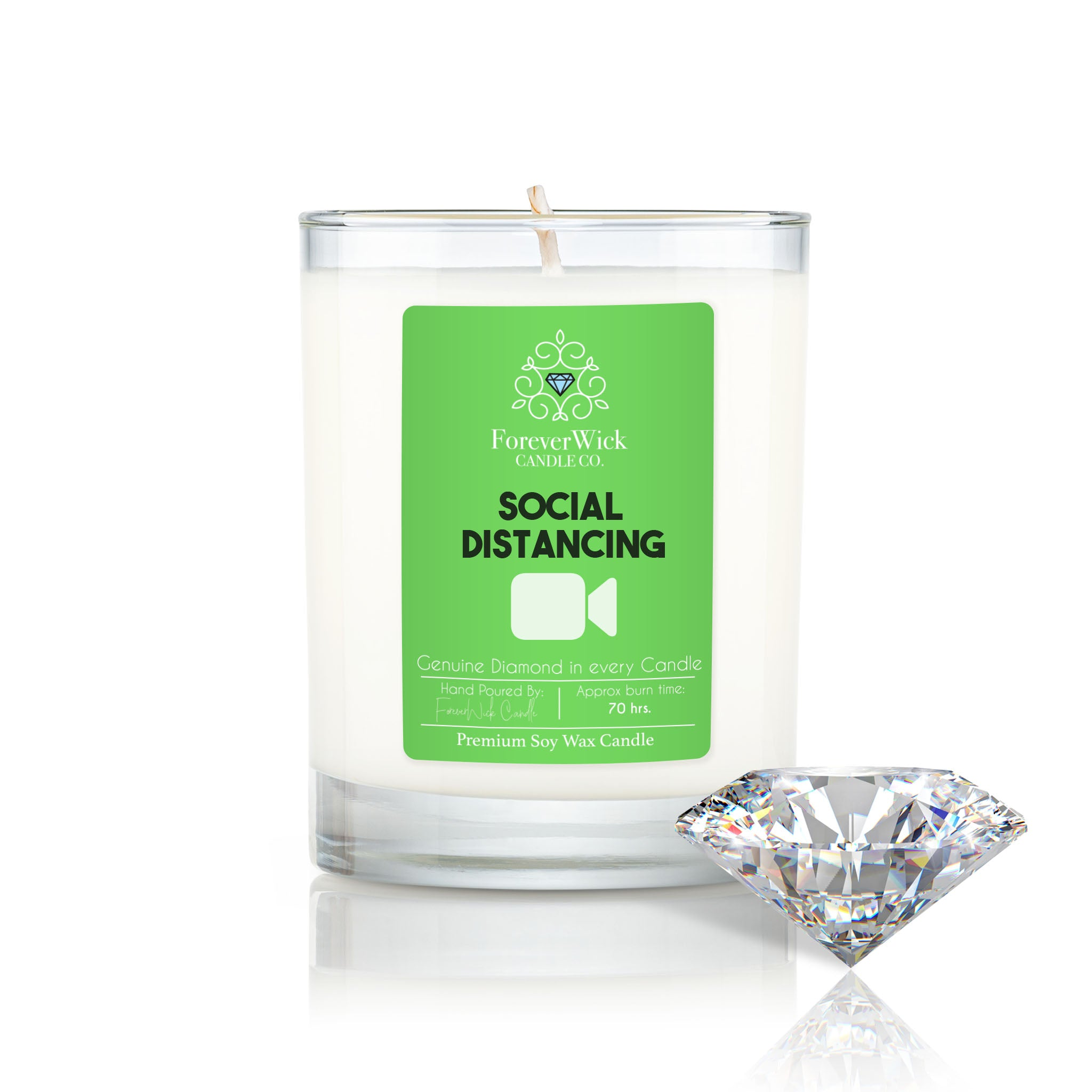 Social Distancing Diamond Candle