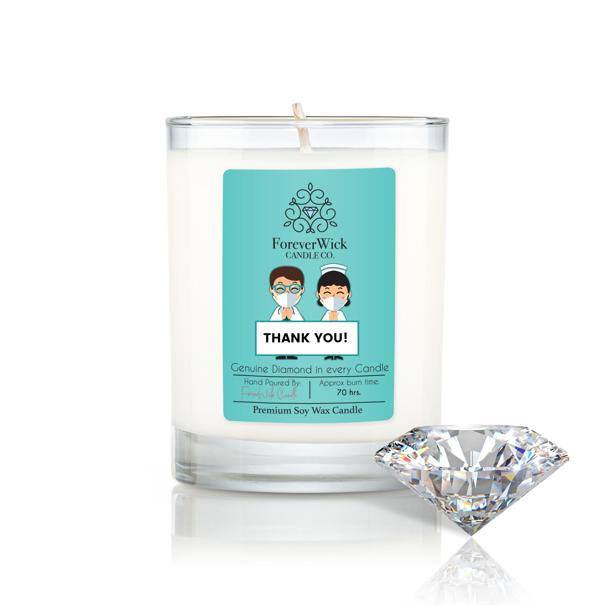 Thank You! Diamond Candle
