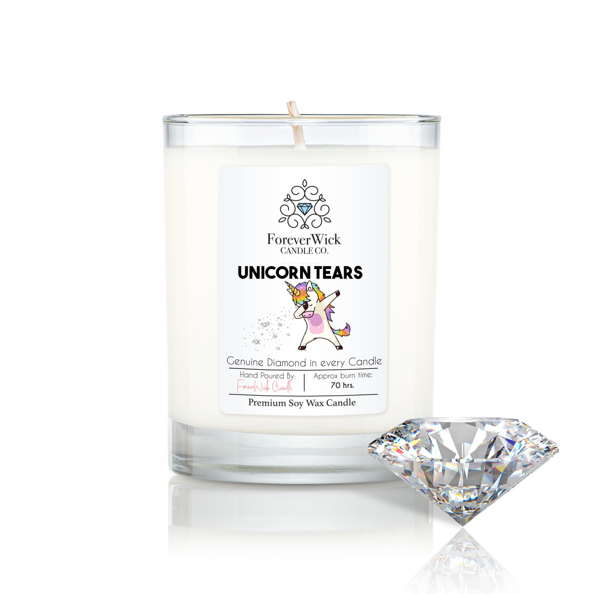 Unicorn Tears Diamond Candle