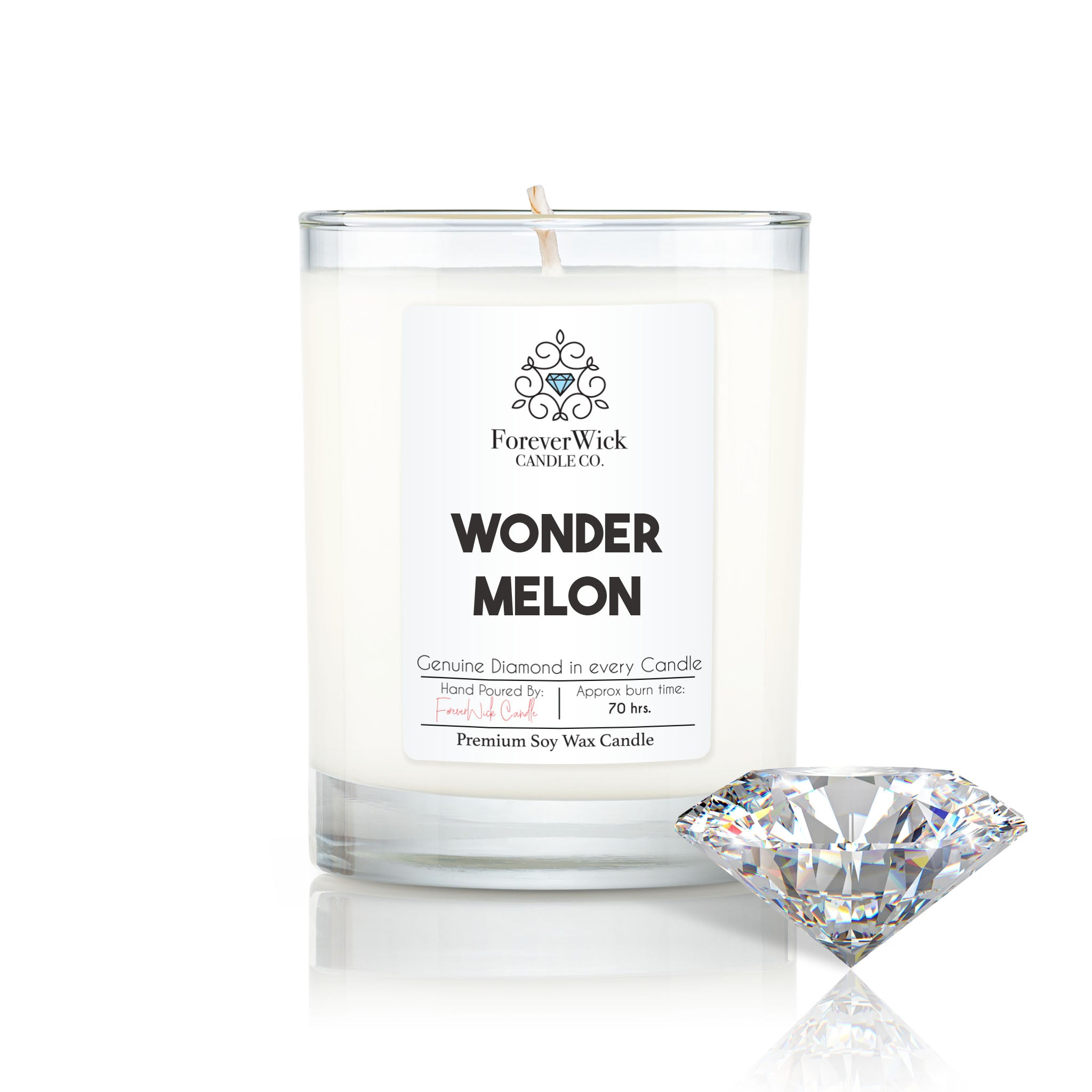 Wonder Melon Diamond Candle