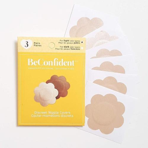 Discreet Nipple Covers for light skin tones, front view product image.