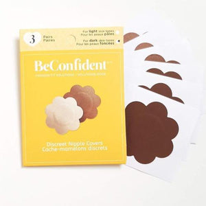 Discreet Nipple Covers for dark skin tones, front view product image.