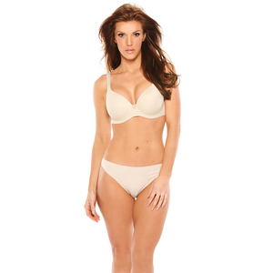 Crystal Smooth Sweetheart Bra in Fawn - front view