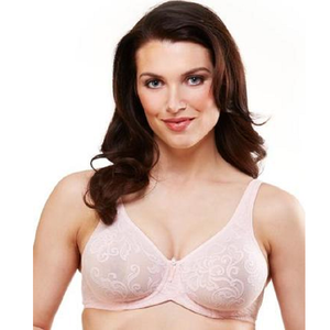 Versailles Underwire Stretch Lace Bra in Nude - front