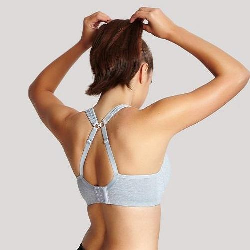 Panache Wired Sports Bra Grey Marl back