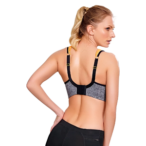 Panache Sports Bra Grey/Mango - Back View