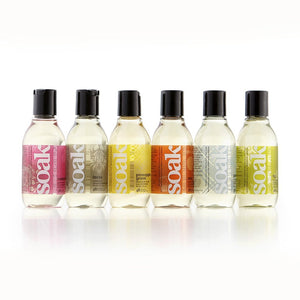 Soak Wash Travel Size in various scents.