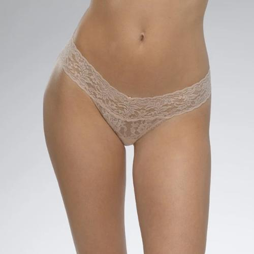 Hanky Panky Low Rise Thong in Taupe - Front