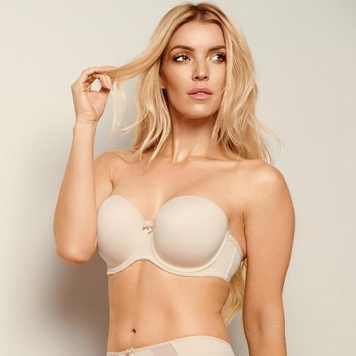 Felicia Strapless Bra Nude front